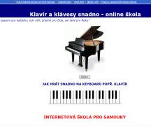 Klavír a klávesy snadno - online škola