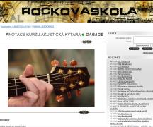 rocková škola - akustická kytara